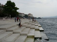 The Sea Organ is an installation by Nikola Basic that is built into the marble steps of the Croatian shorefront, where it turns the constant lapping of the waves into a calming series of sounds like a whale song.
