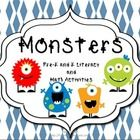 p. 3-7 Lift the Flap Color Bookp. 8-12 BINGO Number Boards 1-20P. 13-19 Monster ABC and Number Gamesp. 20-30 Colorful Monsters Book (I, see, a)...