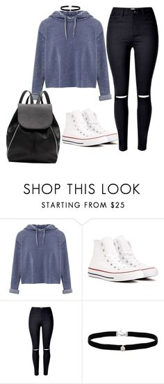"""School #2"" by cbgzajunk ❤ liked on Polyvore featuring Miss Selfridge, Converse, Amanda Rose Collection and Witchery"