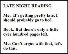 Great bookish quote! Ha!