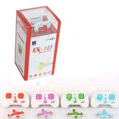 Cheerson cx-10 cx10 mini 2.4g 4ch rc quadcopter helicóptero de control remoto drone cx 10 led toys regalo para los niños ht1653