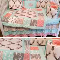 How to Sew the Easiest Baby Blanket - Sewing Method Baby Bedroom, Baby Room Decor, Nursery Room, Baby Bedding, Camo Nursery, Babies Nursery, Crib Bedding Sets, Girl Cribs, Baby Cribs