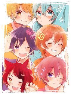 Kawaii Chibi, Anime Chibi, Kawaii Anime, Hot Anime Boy, Cute Anime Guys, Anime Music, Anime Art, Vocaloid, Rainbow Boys