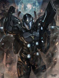 Sci-Fi Art: Commander Evolved - 2D Digital, Sci-fiCoolvibe – Digital Art Sci-Fi Art by Ng Fhze Yang, Malaysia.