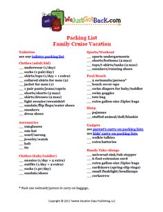 Free Printable Caribbean Cruise Packing List | Follow me, Facebook ...