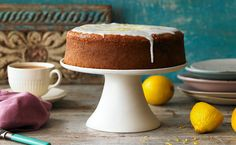 A teatime classic any day of the week – the citrussy sweetness goes down a treat with a good cup [. Lemon Yogurt Cake, Lemon Drizzle Cake, Sweet Recipes, Cake Recipes, Yummy Recipes, Recipies, Blueberry Recipes, Biscuit Recipe, Yummy Cakes