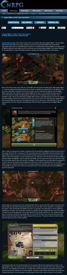 Jagged Alliance Online - OnRPG Beta Impressions - 2012
