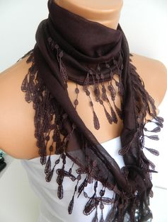 Personalized Design brown Scarf Turkish Fabric by WomanStyleStore, $14.00