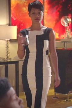 Anika Calhoun's Fuchsia Drape Back Dress #EmpireFOX Finale ...