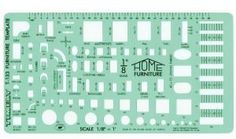 Save $6.02 on Timely 1/8-Inch Scale Furniture Template (133T); only $8.98