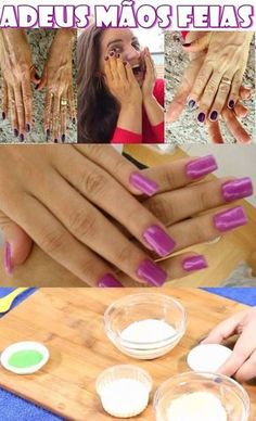 Mantenha suas mãos jovens por muitos anos #mãos #dedos #unhas #beleza #cremecaseiroparamaos #dicassobremaos Hacks, Manicure, Skin Care, Engagement Rings, Beauty, How To Make, Creme, Joseph, Facial