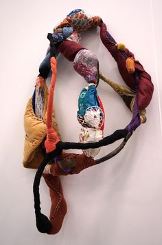 "Sonia Gomes, ""Untitled,"" from 'Torção' series Textile Sculpture, Soft Sculpture, Textile Art, Textiles, Small Sculptures, Felt Birds, Felted Slippers, New York Art, Felt Cat"
