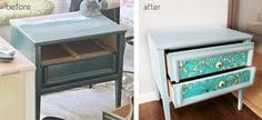 Paint and scraps of fabric transform side table.