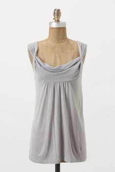 """The embroidered, draped neckline and twisty straps of Vanessa Virginia's top add a romantic touch to soft jersey.  - Rayon, polyester - Hand wash - 26.5""""L - Imported"""