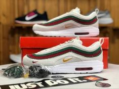 10ba57f57480 Nike Air Max 97 1 Sean Wotherspoon White Red Green AJ4219 163 Sneaker  Women s Men s