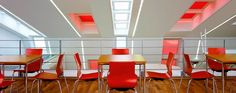 Skylight blinds can be manufactured in either Roller, Pleated or Venetian style. At Bolton Blinds we offer a huge array of colours and designs are available. Here in bright red. We are also a Velux blinds retailer. Skylight Blinds, Skylight Window, Window Blinds, Blinds For Windows, Roller Blinds, Venetian, Room Ideas, Colours, Bright
