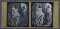 Nude with Mirror, 1851-52. Stereo daguerreotype.