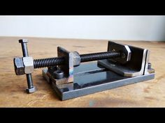 Make A Metal Mini Drill Vise || DIY HomeMade Tool - YouTube