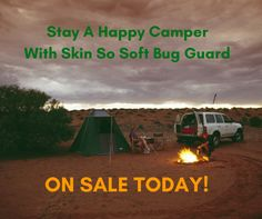 Get our Skin So Soft Bug Guard today so you can stay a happy camper! #skinsosoft #happycamper #bugguard