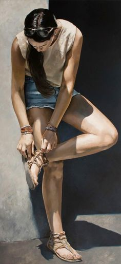 Marc Figueras-look up there - Realistic Paintings by Marc Figueras  <3 <3
