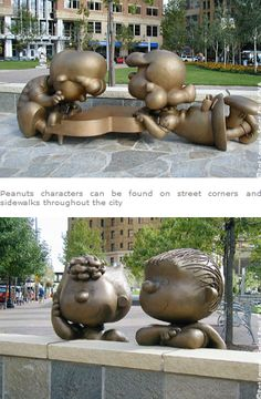 Schroeder and Lucy--Landmark Plaza Park, St. Paul, Minnesota
