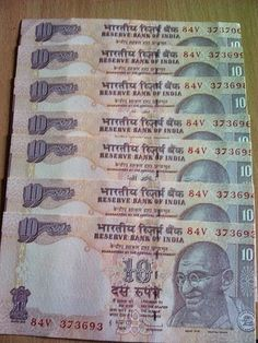 YOUNGEST COIN COLLECTOR: Error In Indian Notes