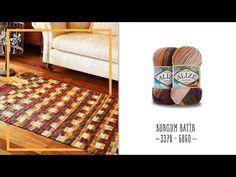 Batik renklerle etkili kilim yapılışı - An effective carpet with Batik c. Afghan Blanket, Curtain Designs, Tapestry Weaving, Sewing Techniques, Loom Knitting, Handmade Rugs, Rugs On Carpet, Bag Accessories, Knit Crochet