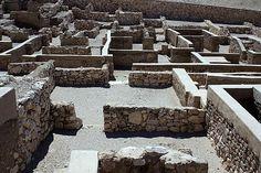 Reconstrucción de una de las casas de Deir el Medina.