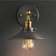 Vintage Ceiling or Wall Lamp Two Way Use Pendant RH Loft Light with Edison Bulb   eBay