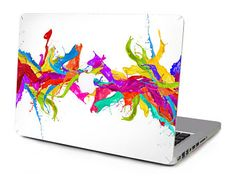 "Colourful Paint Splatter Spill Vinyl Sticker Skin Decal Cover Top Case for Apple MacBook Pro, Macbook Air, Mac, iMac 11"" 12"" 13"" 15"" Laptop"