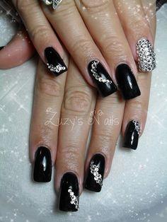 Bling bling nails. Swarovsky nails desings