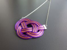 necklace knotted satin laces,