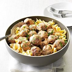 Mom's Swedish Meatballs- These family dinner staples are comfort food at its best. From meaty lasagna and homemade chicken potpie to mom's meat loaf and traditional beef stew, make these hearty dinner recipes when you need a classic comforting meal. Meat Recipes, Dinner Recipes, Cooking Recipes, Recipies, Cooking Tips, Sandwich Recipes, Casserole Recipes, Healthy Cooking, Holiday Recipes