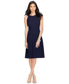 Lauren Ralph Lauren Ruched Sleeveless Dress - Bridesmaids - Women - Macy's