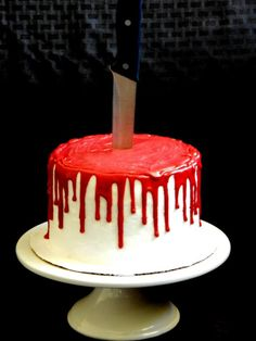 Bloody Halloween Cake | Community Post: 12 Next-Level Halloween Cakes That'll Make Your Party An Instant Success