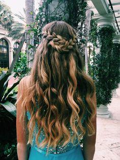 Prom hair #prom #promhair #curlyhair #braid #promdown