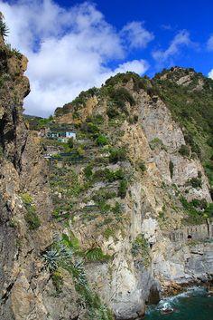 #Manarola, (Cinque Terre) view from Piazzetta E. Montale, by Cinque Terre Trekking, via Flickr
