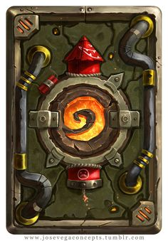 So after Blizzcon and the Announcement for the new Hearthstone expansion Goblins vs Gnomes I wanted to try my take on a few cardbacks and Illustrations. Goblin Card Back Game Concept, Concept Art, Blizzard Warcraft, Elemental Powers, Hand Painted Textures, Game Props, Blizzard Hearthstone, Creative Pictures, Video Game Art