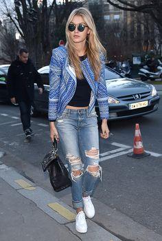 Gigi Hadid in Jeans #StreetStyle