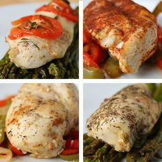 Check out these chicken meal prep recipes from Goodful! Use one pan and meal prep 4 different types of chicken for the week ! Look for #GoodfulMealPrep on Sunday's each week for more recipes like