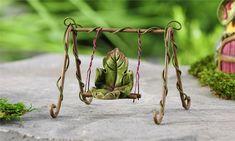 Fairytale Leaf Swing - My Fairy Gardens