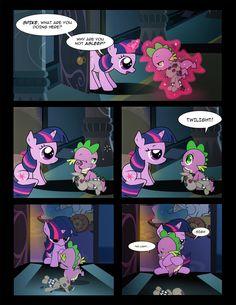 #1287986 - artist:dsana, comic:lessons, filly, filly twilight sparkle, hug, magic, princess celestia, safe, smarty pants, spike, twilight sparkle - Derpibooru - My Little Pony: Friendship is Magic Imageboard