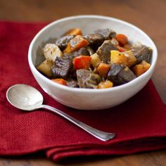 Roasting the vegetables in this stew before adding them in brings out delicious caramelized flavors.