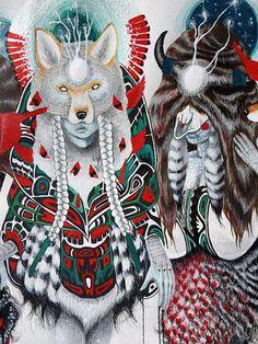 (via Chelsea Brown Chelsea Brown, Native American Art, Artsy Fartsy, Colored Pencils, Old School, Nativity, Retro, Creative, Illustration
