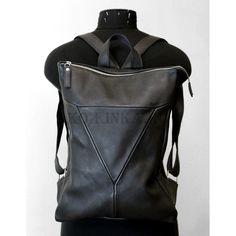 """Кожаный рюкзак """"Ария"""" черный"""