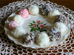 coconut cream cheese truffles are easy enough to make to be a family project.