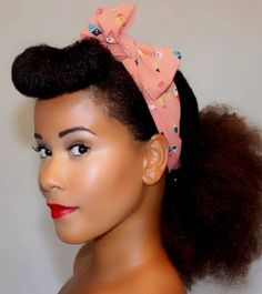 """Natural Hair How-To : The """"Pin Up Girl"""""""