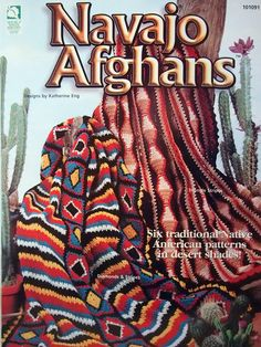Navajo Afghans By Katherine Eng Six Traditional Native American Patterns Crochet Leaflet by NeedANeedle, $10.75