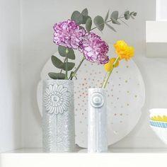 Porseleinen vaas Pipanella Flower - Grijs