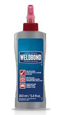 Weldbond® Glue - 5.4oz Weldbond® Glue - is a favorite of many mosaic artists. This glue is non-toxic, dries clear, adheres to most surfaces and is easy to use. Not intended for moist areas or outdoor
